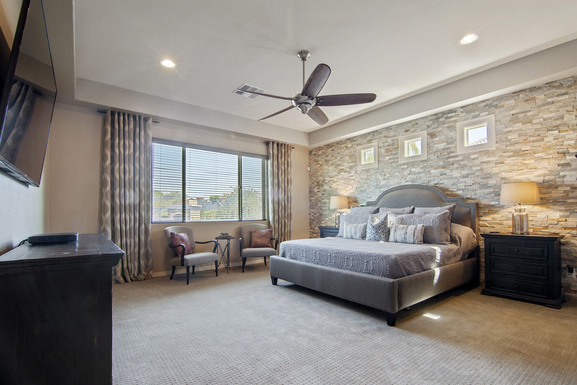 professionally staged bedroom