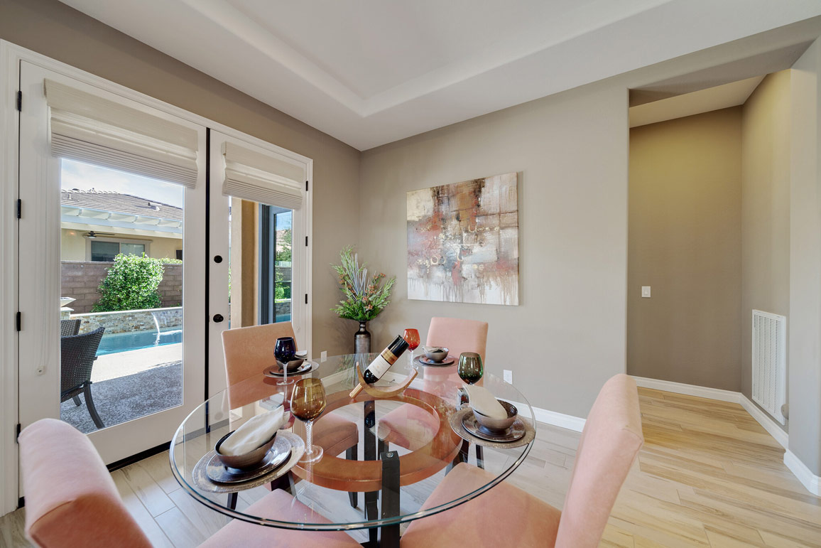 professionally staged dining area