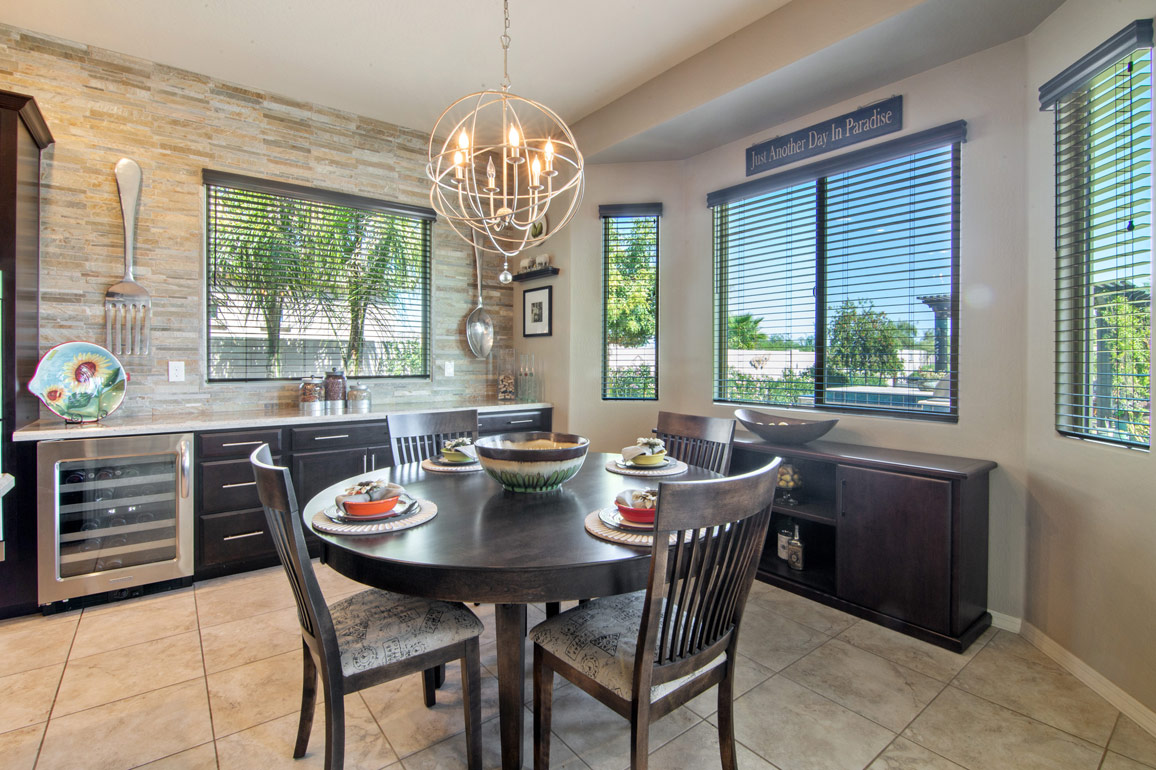 professionally staged dining room